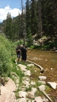 Dalton Fishing with Grampy. Spring Creek near Crested Butte, CO