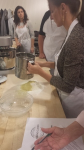 Sifting powdered sugar and nuts for macarons at Sur La Table Cherry Creek