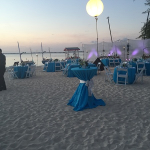Sunset Beach Party at Ritz Cayman